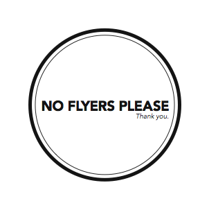 no flyers please akin collective