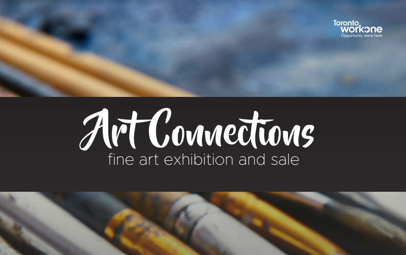 Get your holiday shopping finished (or started) this week at the Art Connections Fine Art Exhibition and Sale. This event will return to  Metro Hall Rotunda on Friday,  December 14, 10:00 am-3:00 pm.  For some of the   participants, this will be their first time to showcase their work in Canada.  The  Art Connections program  helps foreign-trained professional artists pursue their careers in Toronto. Participants are placed in a customized Toronto School of Art professional studio program where they learn how to market their art practice and apply to galleries, exhibitions and competitions. City staff help participants create job search tools such as biographies and portfolios, and connect them to art organizations and employment supports.  The City works in collaboration with the Toronto Arts Council, Ontario Arts Council, Neighbourhood Arts Network, Toronto School of Art and various community art organizations to provide participants with direct access to professional networks and career opportunities.