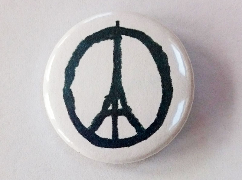 Peace for Paris Badge
