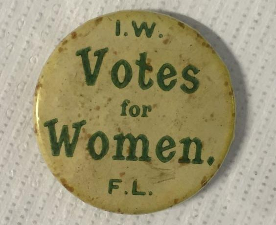 "Francis Sheehy Skeffington's ""Votes for Women"" badge"