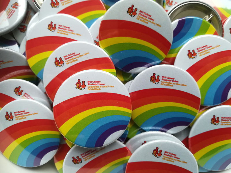 38mm Rainbow LGBTQ badges