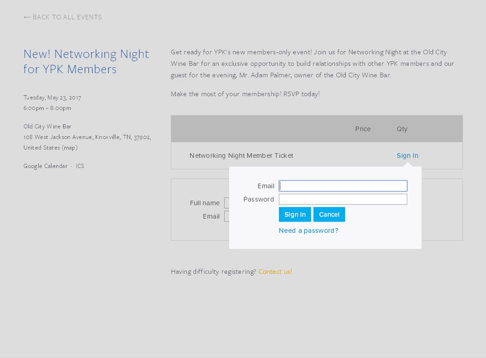 Rsvp login member