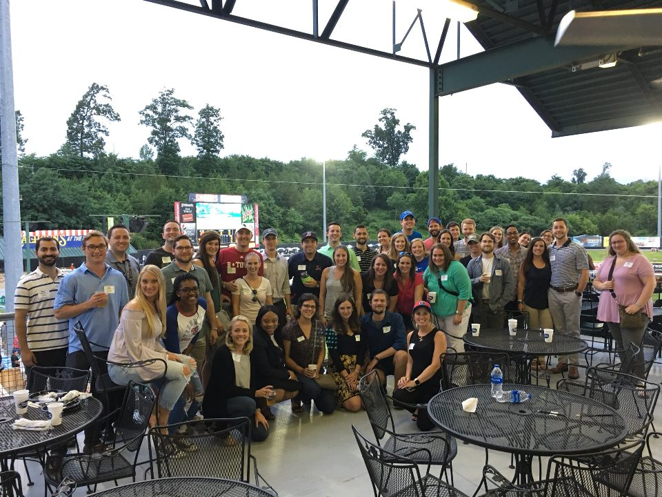 Young Professionals of Knoxville members at the 2018 Summer Party at Smokies Stadium.