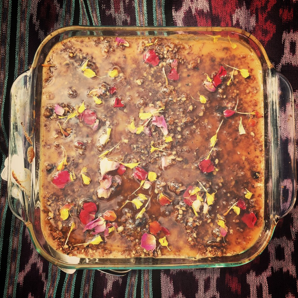 KONAFAH  - with lime rose spiced syrup
