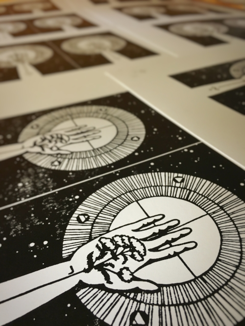 Numen Naturae cards hot off the printing press.