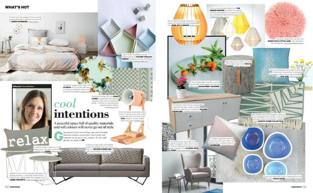 Home Design Magazine writing — fiona michelon