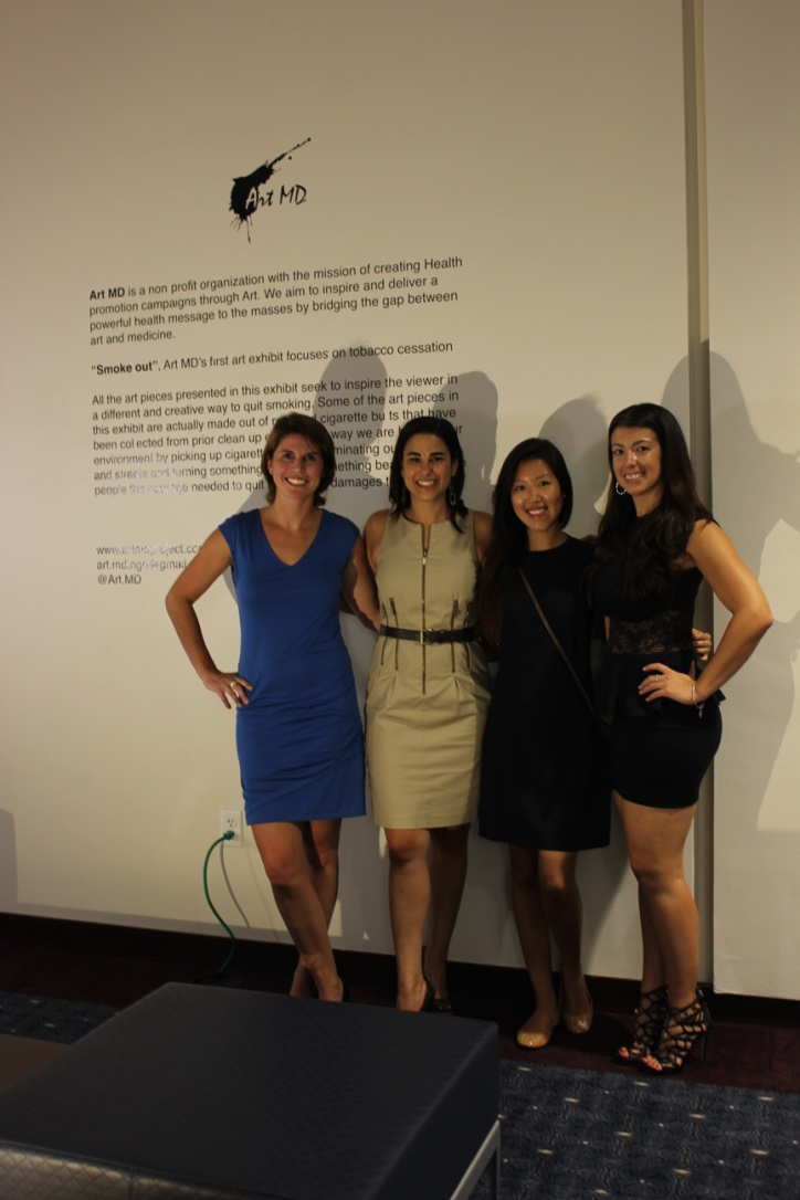 Charlotte Morel, Zeina Hannoush, Grace Wu and Melissa Vitolo (members of Art MD).