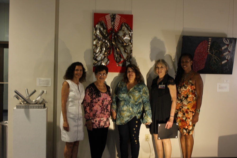 Anabel Rub Peicher, Rachel Rub, Diana Pappas, Judith Schwab and Lisa Foster. (artists).
