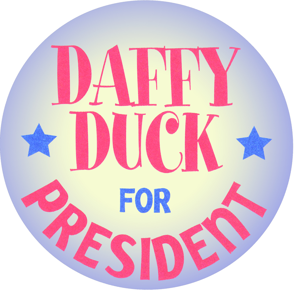 Daffy Duck for President Campaign Button