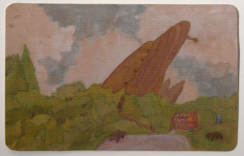 Flying Saucer postcard, 2005