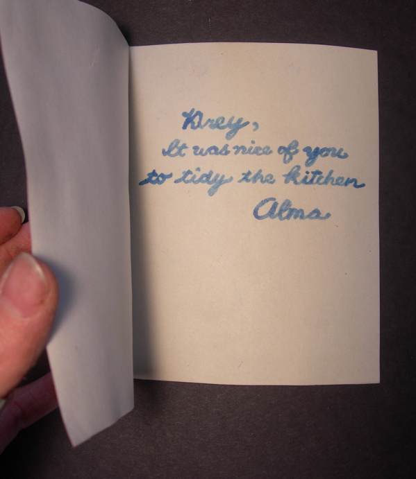 card from Alma, 2010