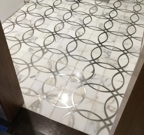 Custom Marble Mosaic in Brookline