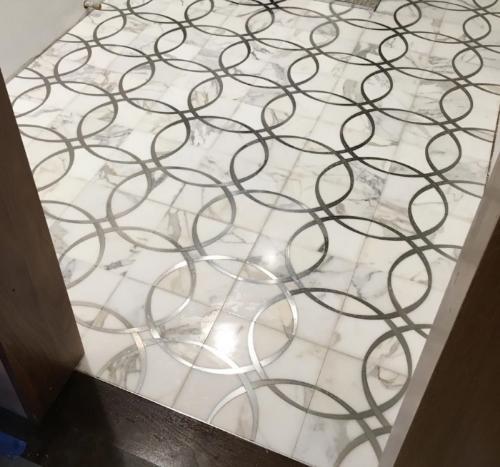 Custom Marble Mosaic in Brookline