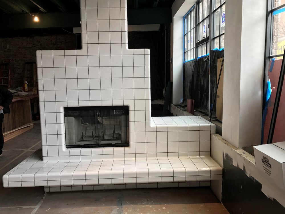 Fireplace - D-tile from Netherlands