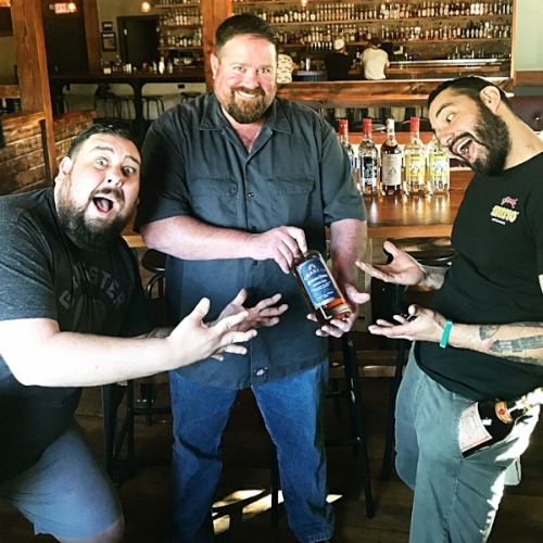 Franco, Johnny Marrs & Danny O drinking Charbay Whiskey @ Mario & Johns in Petaluma, Ca