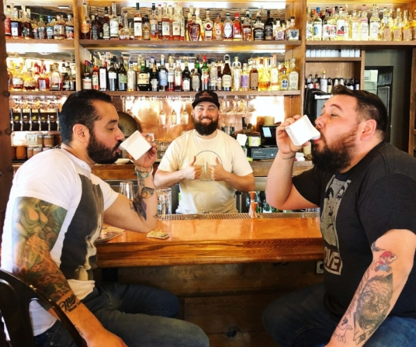 Danny O, Will & Franco sipping on some Milk Punch @ Beer Baron Santa Rosa, Ca