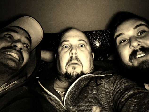 Danny O, Kapdaddy, Franco...coming back from an epic day in Oakland