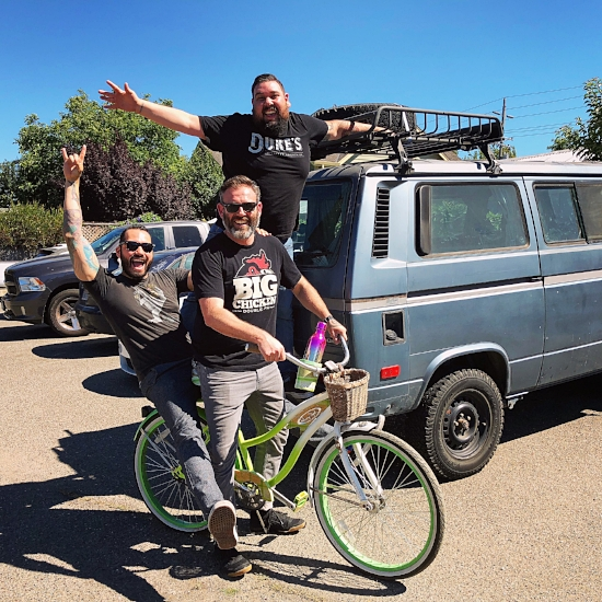 Danny O, Alfie, Franco and the Van...riding in style