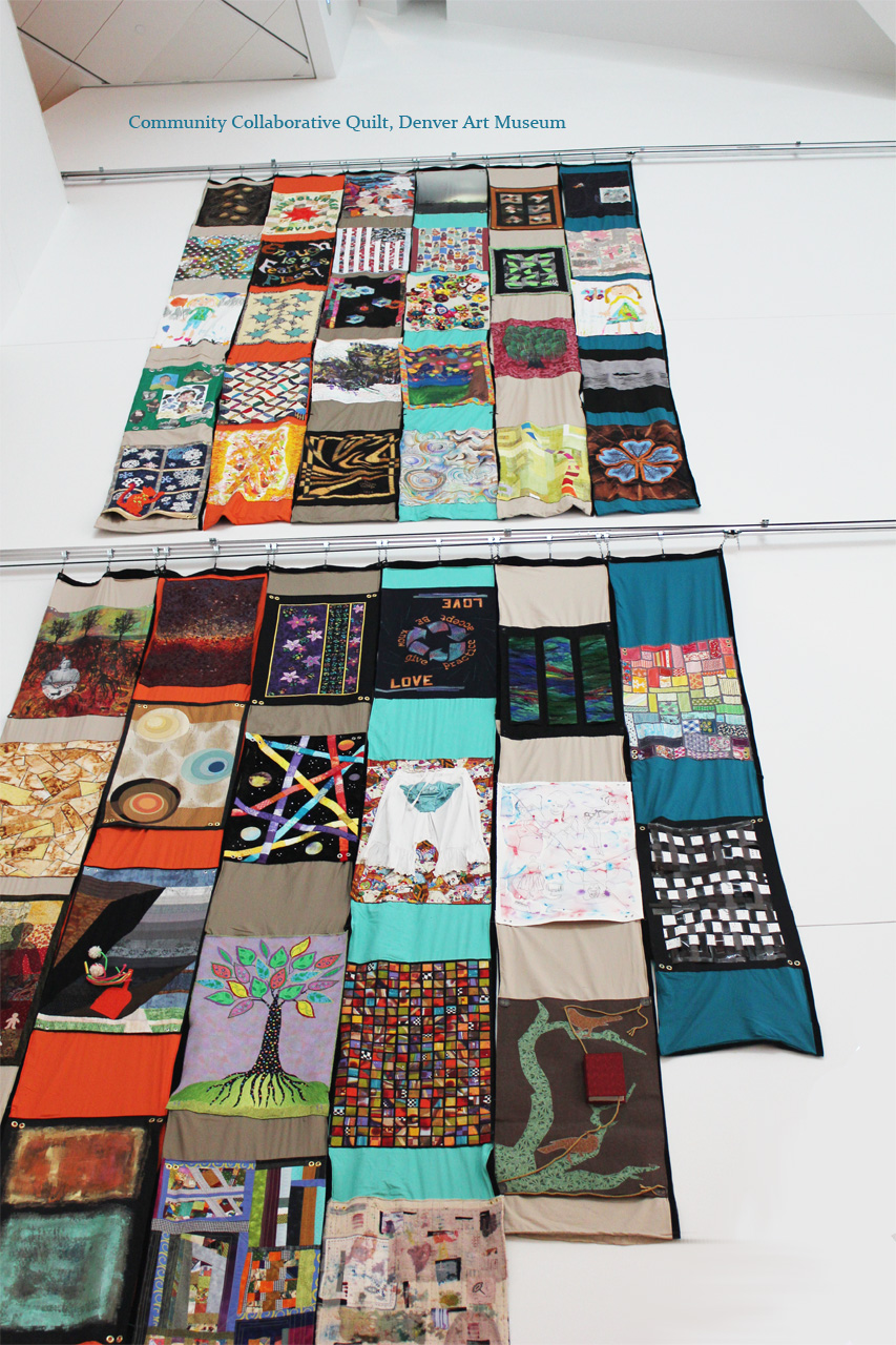 Community Collaborative Quilt, Denver Art Museum_ Laura Phelps Rogers et al _image by laura phelps rogers.jpg