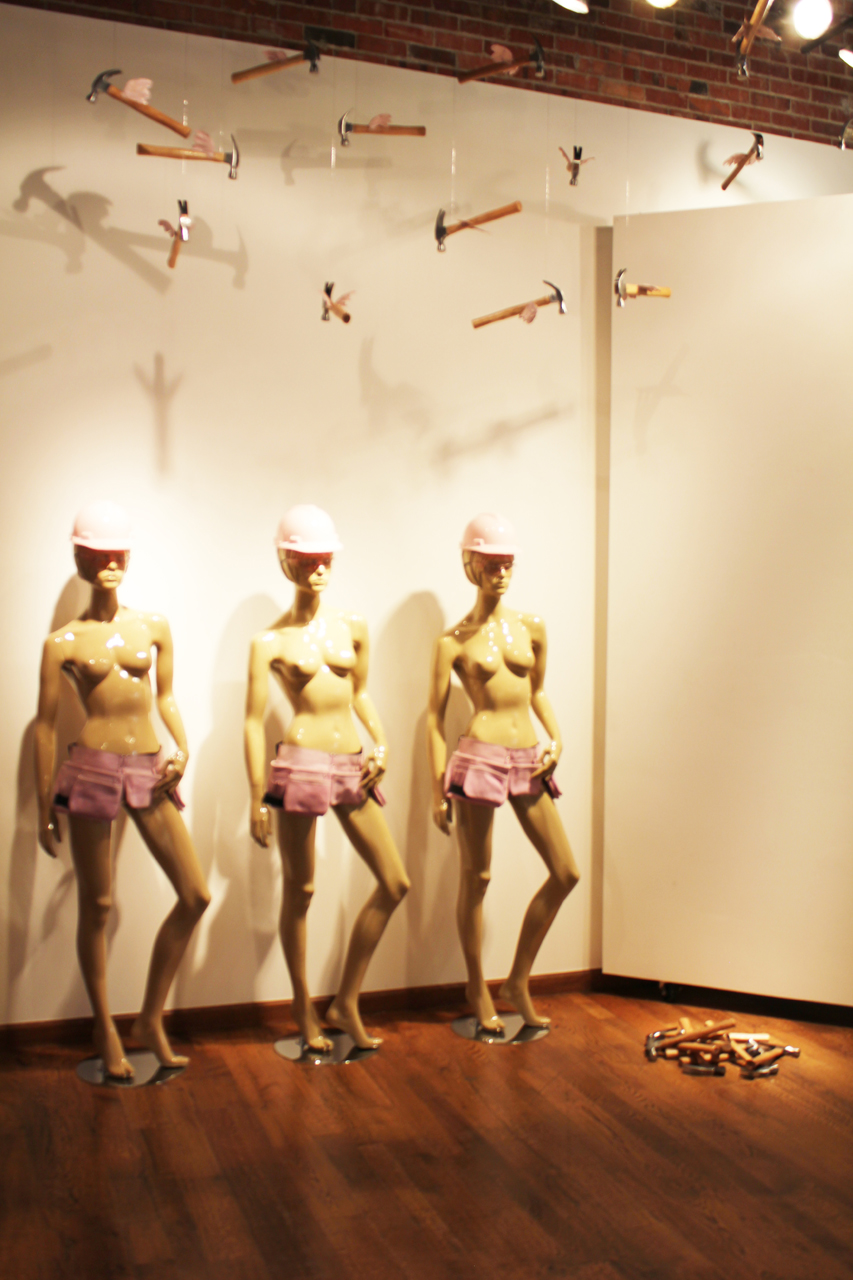 TOUGH CHICKS mixed media installation, dimensions variable_ laura phelps rogers.jpg