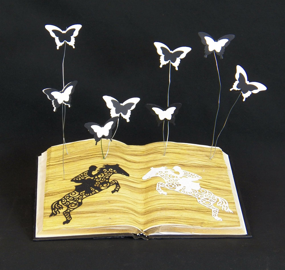 Horse & Butterfly Book Mobile