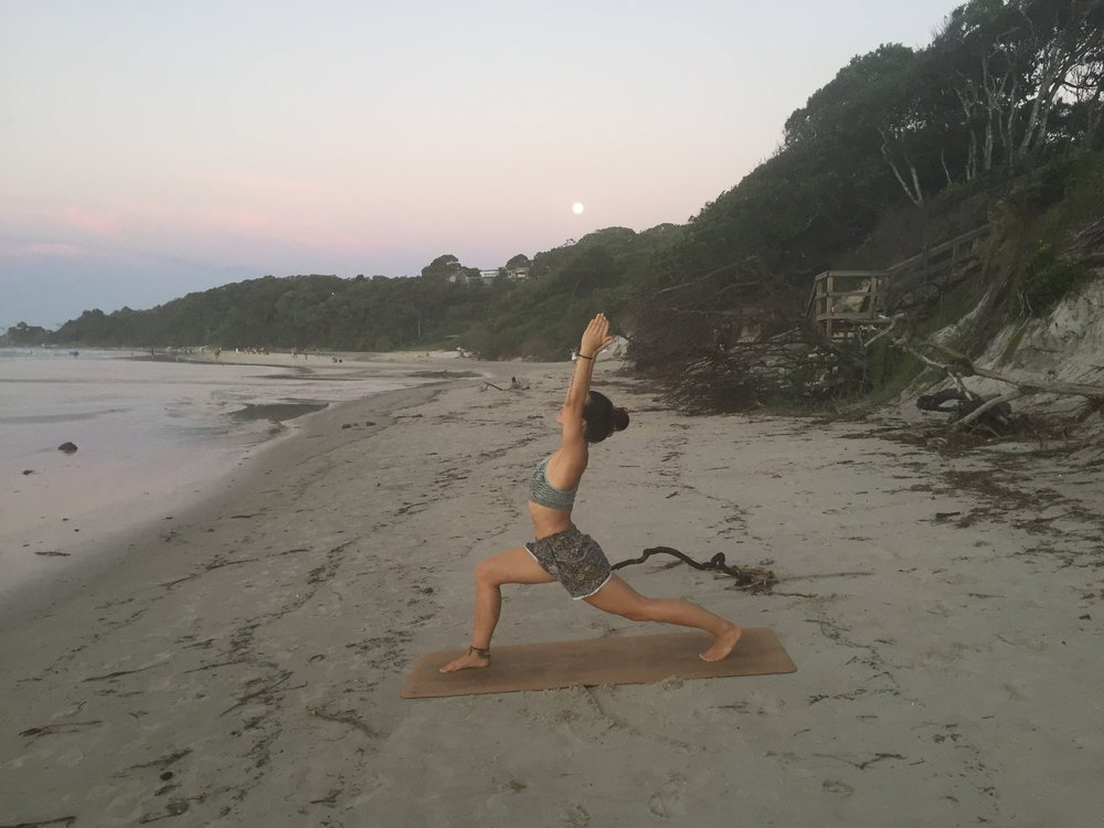 Saturdays are our day off here at Krishna Village so I grabbed the opportunity to go for a drive to Byron Bay where I had an amazing yoga session sending my gratitude to the full moon.