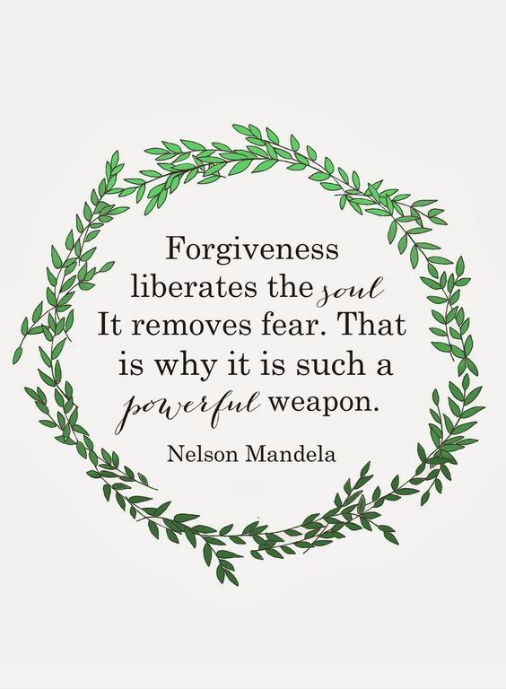 Nelson Mandela certainly set a brilliant example when after being released from prison after 27 years he chose to forgive