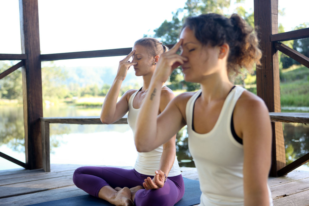 Practicing pranayama every day helps to establish new healthy routines