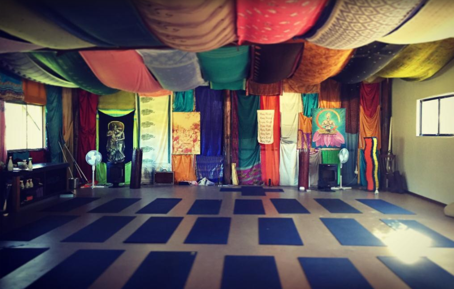 Our cosy yoga hall