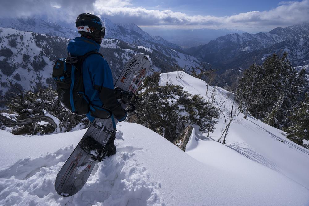 Zach enjoying the view out of Big Cottonwood Canyon  Photo: Ryan Irvin