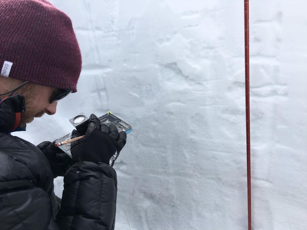 Zach teaching snow metaphorphism  Photo: Chris Giersch