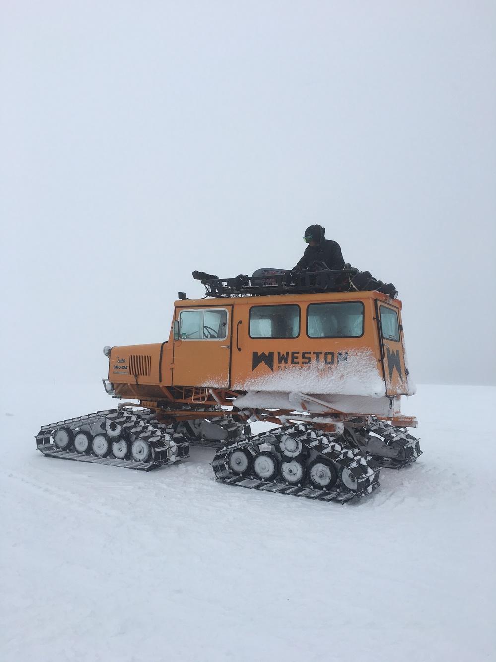 Weston snow cat on Vail Pass  Photo: Ryan Irvin