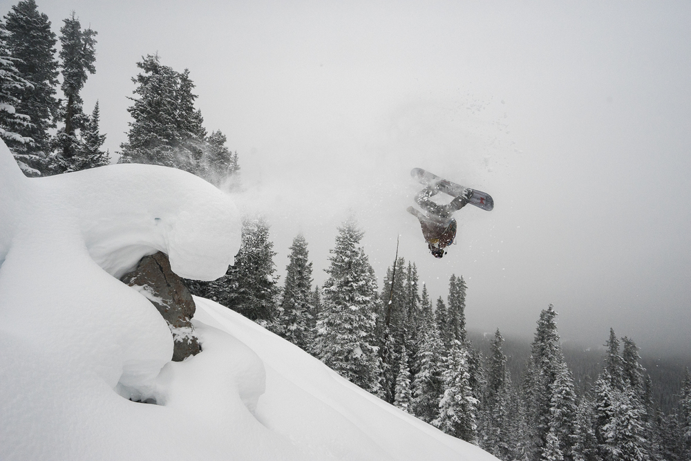 Brian throwing his laid out backy on Cupcakes at Vail Pass  Photo: Ryan Irvin