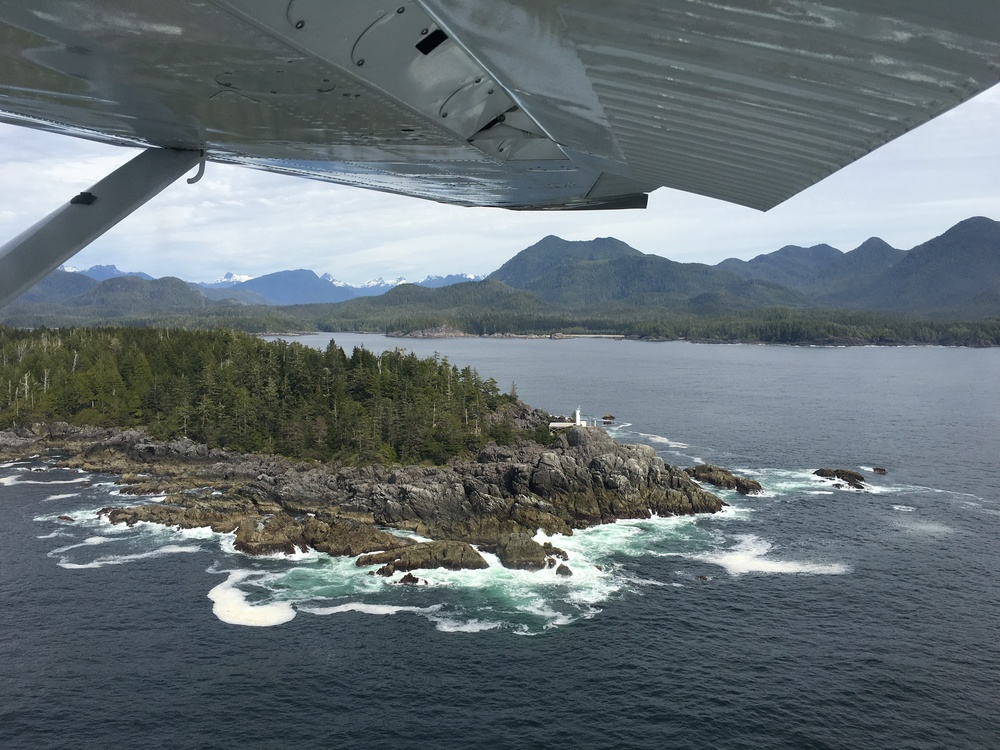 Entering Clayoquot sound by float plane  Photo:Zach