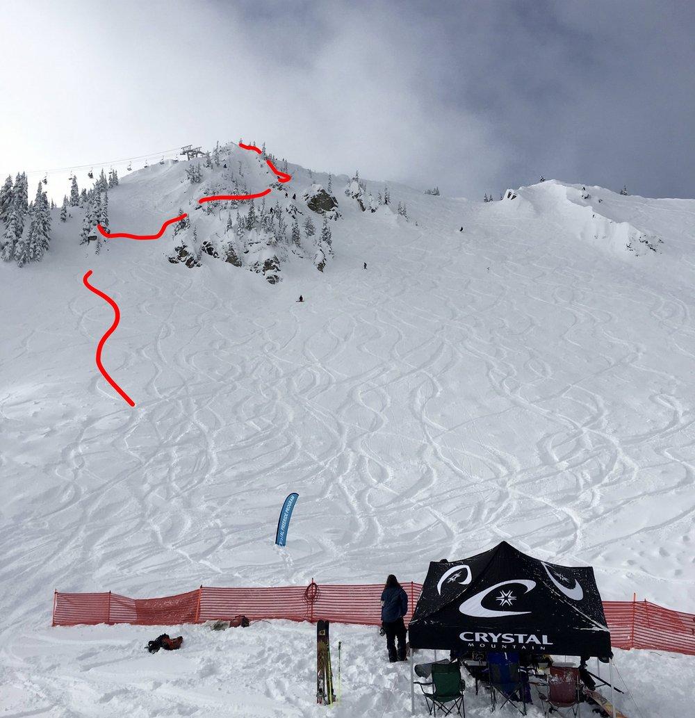 Below Qualifier venue POV     (Day 1)   Northway Peak