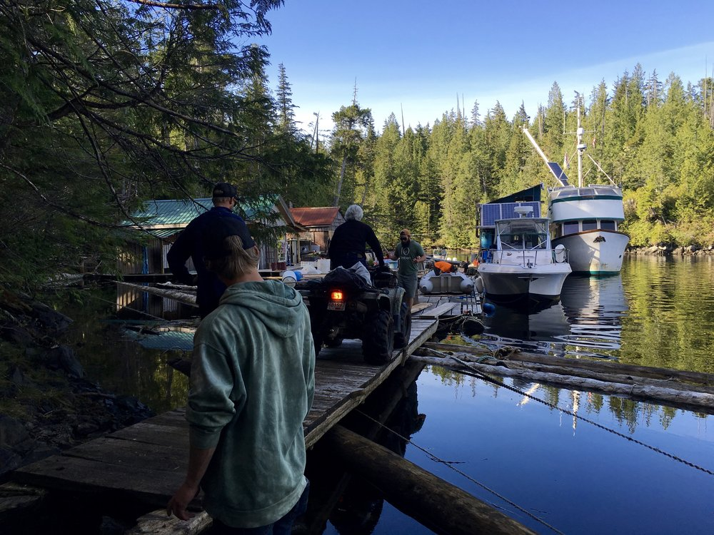 Loading up the quads along a very skinny bridge.  Photo: Zach Husted