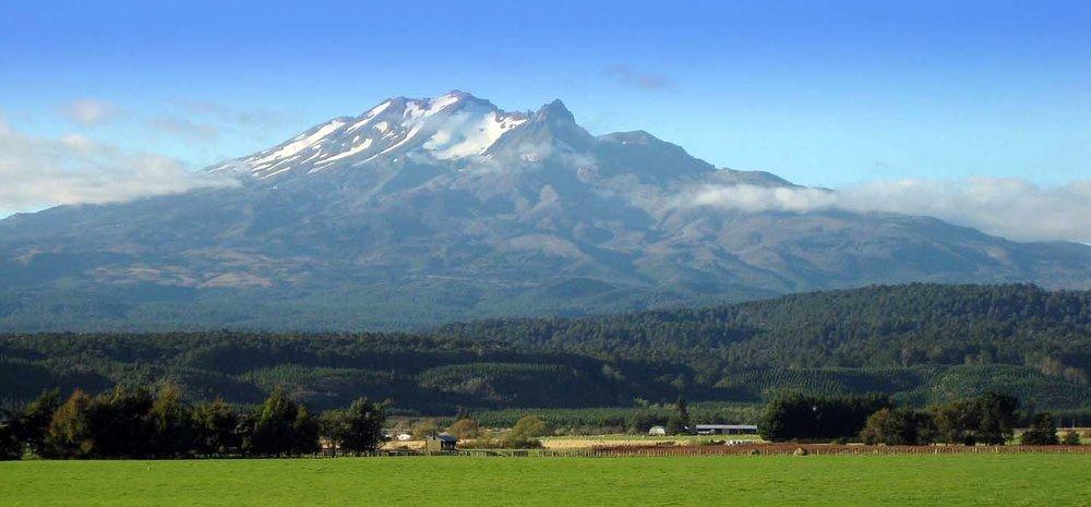 Mt. Ruapehu in the distance