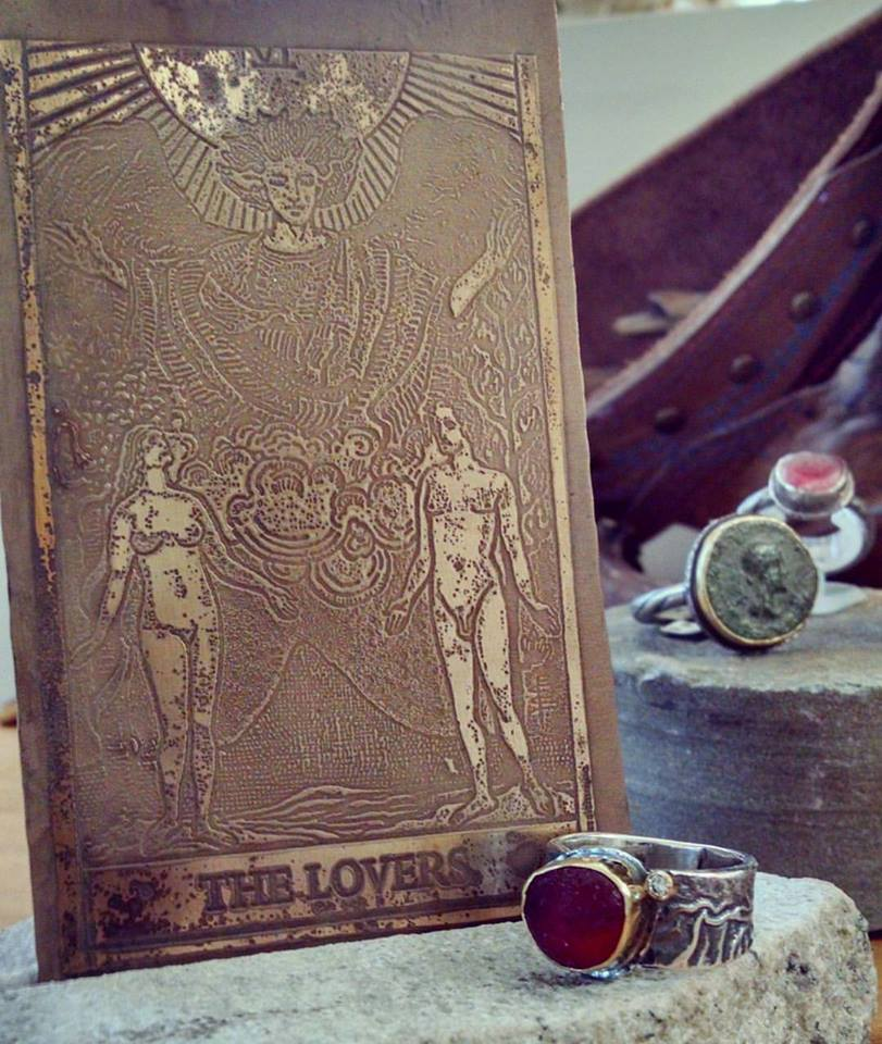 I have been doing a lot of etching this Spring, including a series of the Major Arcana.