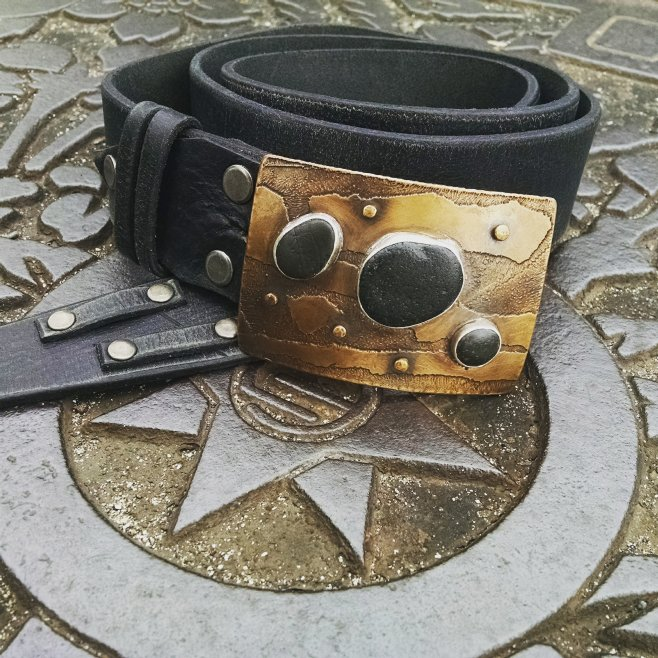 Tokyo manhole cover and made in Tokeland belt-a match made in heaven!