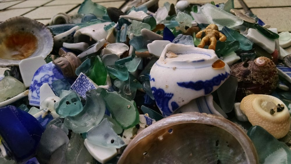 Sea Glass finds from a Japanese fishing cove.