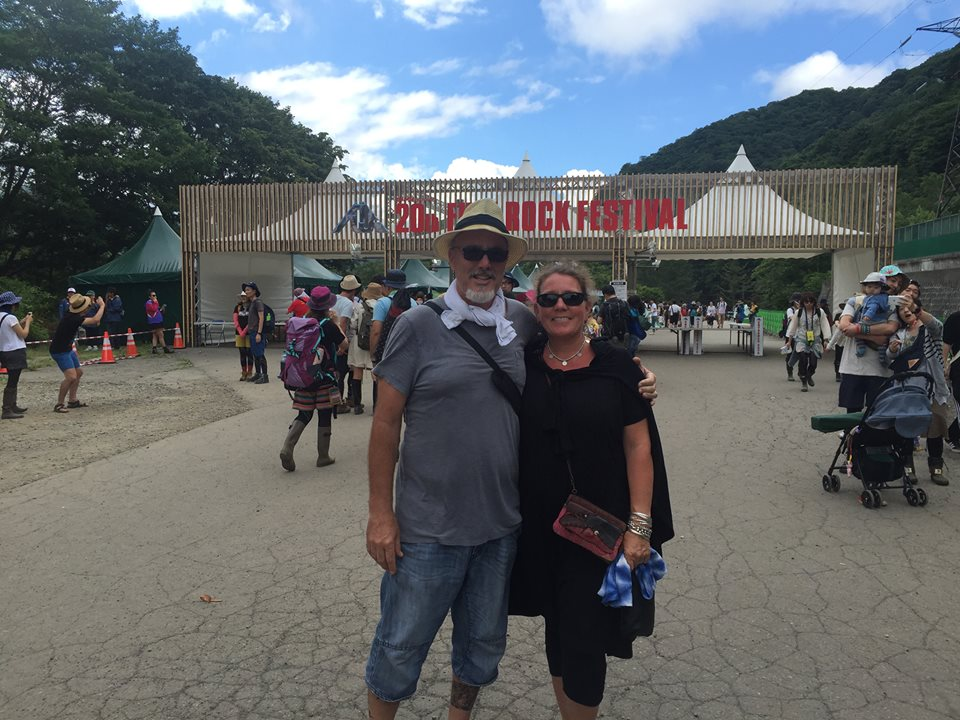 Robert and Barbie at the entrance to FujiRock 2016