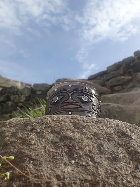 Marianne's chased copper cuff, Galapagos Island