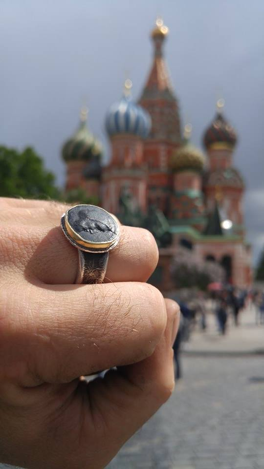 Poseidon Ring in Red Square