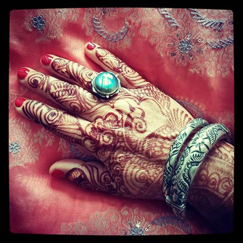 Mehindi hands for a wedding