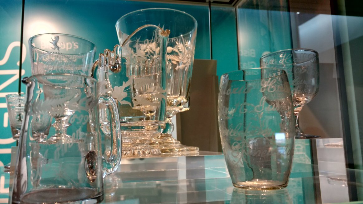 There are many fine example of the glass produced in the Sunderland area in the museum and the Glass Centre, both are definitly  worth visiting.