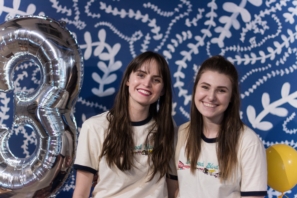 A couple of the store's seniors - Hannah and Abbey