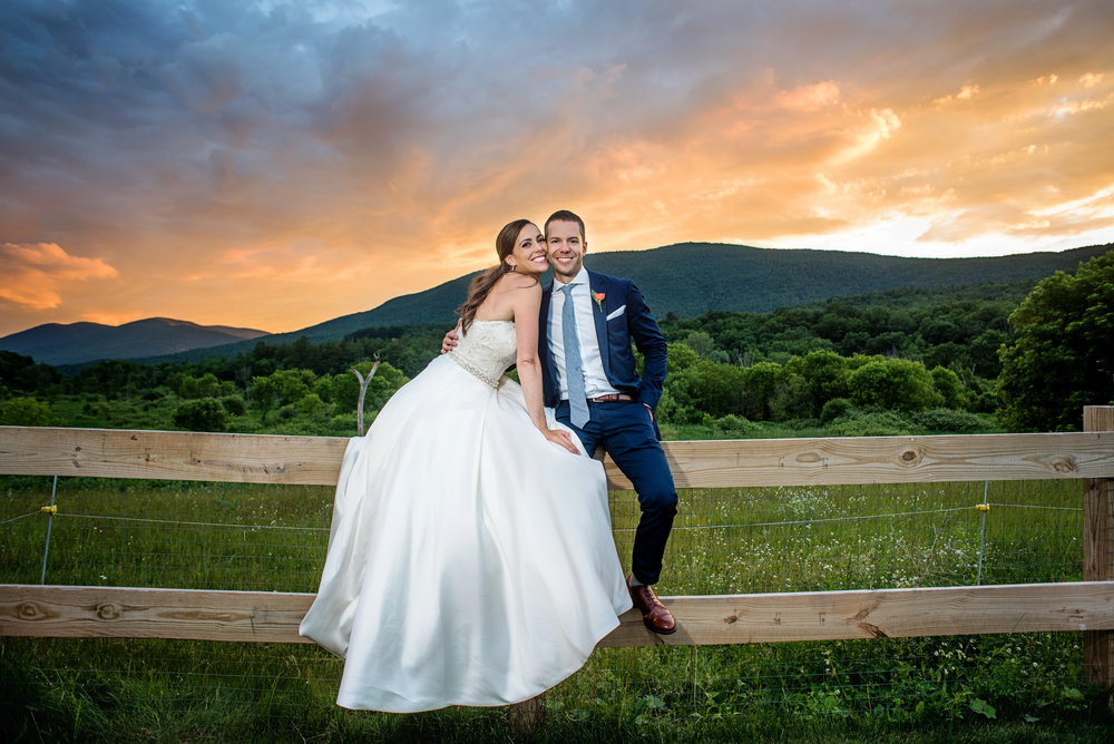 Courtney + Brett - Hill Farm Inn, Manchester, VT