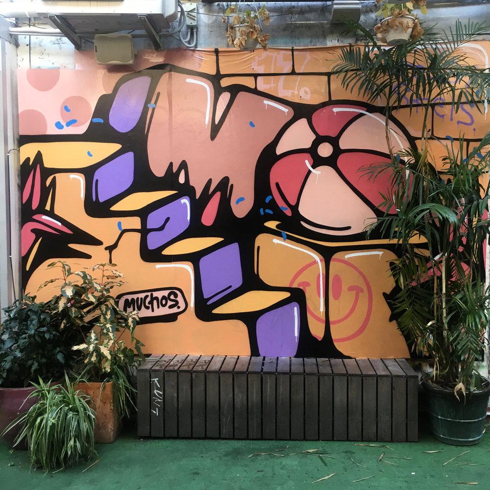 muchos winn lane the culprit club graffiti street art brisbane