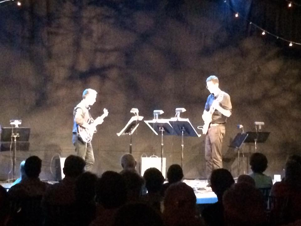 Ignition Duo performing live at Spoleto Festival in Charleston, S.C. on 6/22/16.