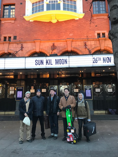With Sun Kil Moon before the gig at Shepherds Bush Empire, London on 11/26/17.